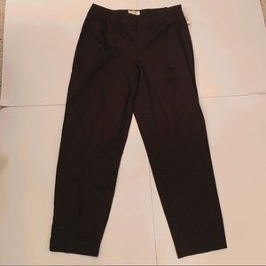 Talbots Straight Leg Stretch Black Pants